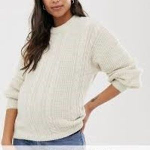 ASOS DESIGN Maternity cable sweater